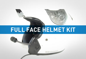 Police Motorcycle Helmet Kit